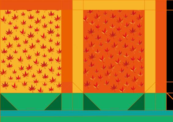 ミニ紙袋 - 紅葉(モミジ)