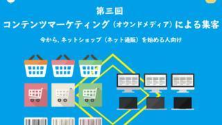 Webサイトの集客方法・流入対策 第三回 コンテンツマーケティング(オウンドメディア)による集客 初心者のためのオンラインショップ(ネットショップ)